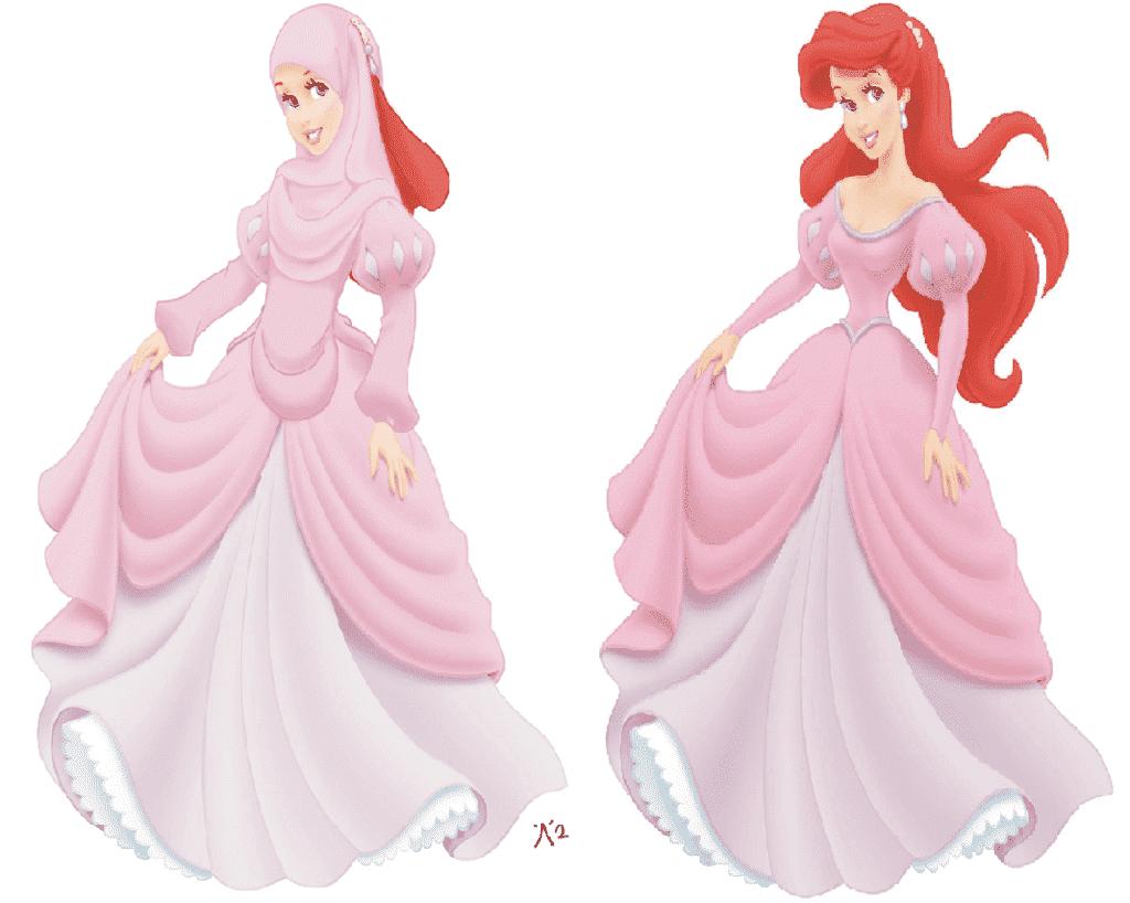 mermaid-1024x818 Disney Princesses in Hijab-11 Pics of Disney Princesses Muslim Version