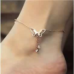 10-Remarkable-Butterfly-Cuteness Cute Ankle Bracelets-19 Ideas how to Wear Ankle Bracelets