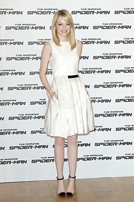 12-A-Jason-Wu-Slender-Dress Emma Stone Outfits-25 Best Dressing Styles of Emma Stone to Copy