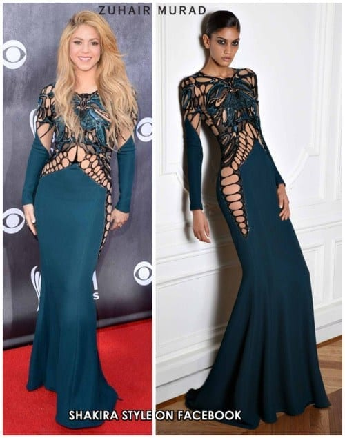 13-An-Amazing-Net-Outfit Shakira Outfits - 25 Best Dressing Styles of Shakira to Copy