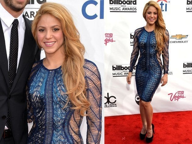 14-A-Shocking-Net-Outfit Shakira Outfits - 25 Best Dressing Styles of Shakira to Copy