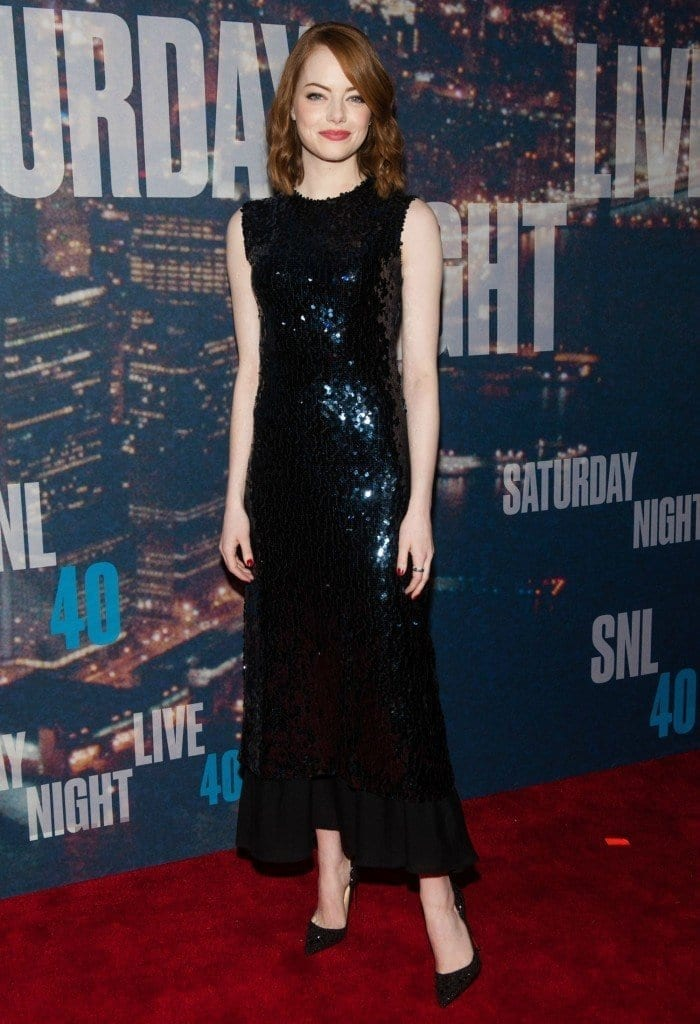 14-A-glistening-black-dress-700x1024 Emma Stone Outfits-25 Best Dressing Styles of Emma Stone to Copy