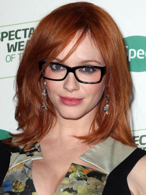 19-Idyllic-Dyed-Straight-Lairs-Hairdo 37 Cute Hairstyles for Women with Glasses this Year