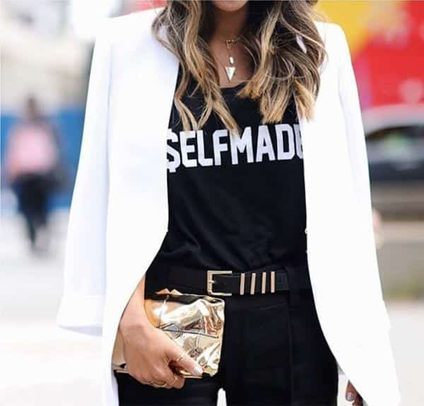 20-Wear-it-With-a-Blazer-Coat Graphic Tee Ideas-20 Stylish Outfit Ideas with Graphic Tees