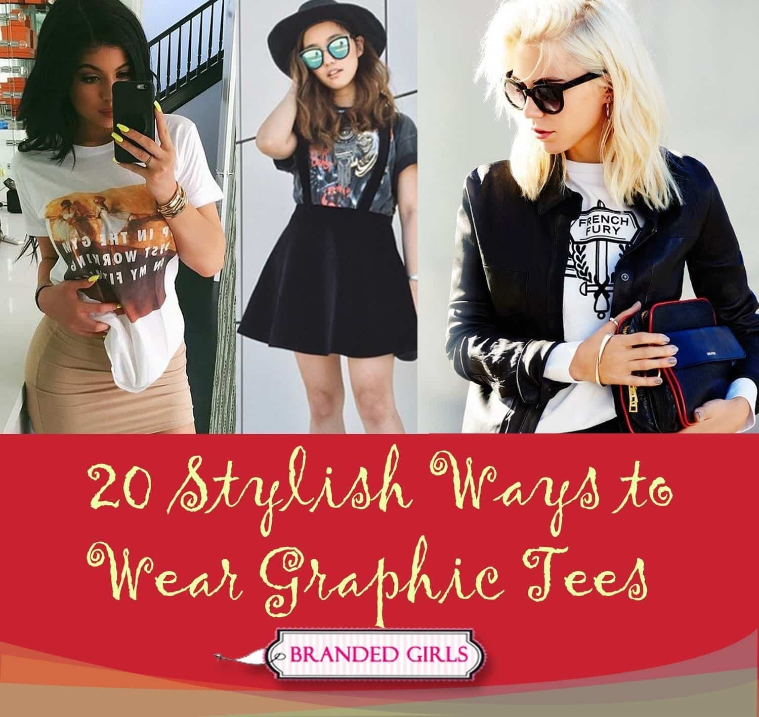 20-stylish-ways-to-wear-graphic-tees Graphic Tee Ideas-20 Stylish Outfit Ideas with Graphic Tees