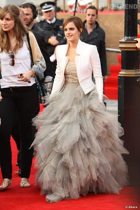 21-A-Frilled-Princessy-Gown Emma Watson Outfits - 25 Best Dressing Style of Emma Watson