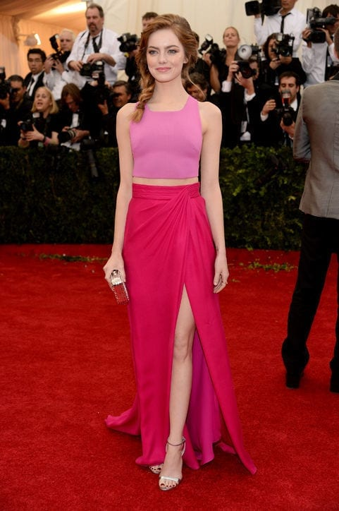 22-The-Pinkest-Shes-Been Emma Stone Outfits-25 Best Dressing Styles of Emma Stone to Copy