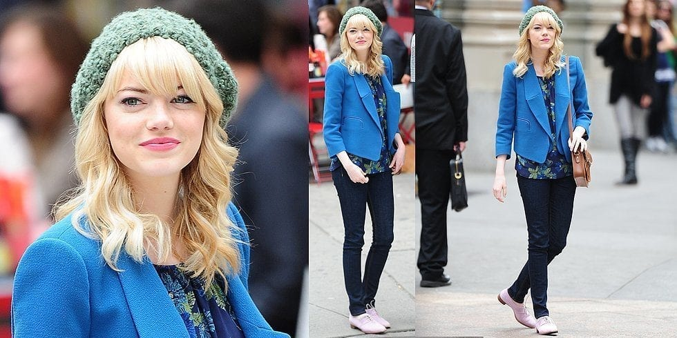 24-A-Cute-Winter-Outfit Emma Stone Outfits-25 Best Dressing Styles of Emma Stone to Copy