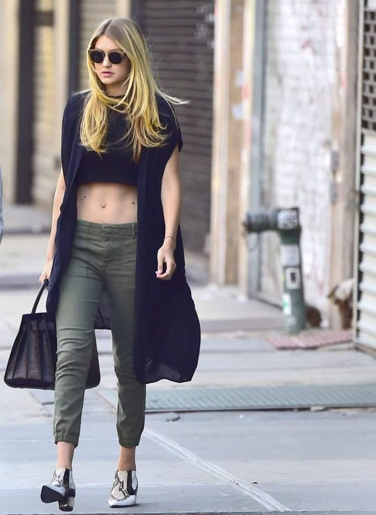 25-In-The-Most-Gorgeous-Street-Style-748x1024 Gigi Hadid Outfits-28 Best Looks of Gigi Hadid This Year