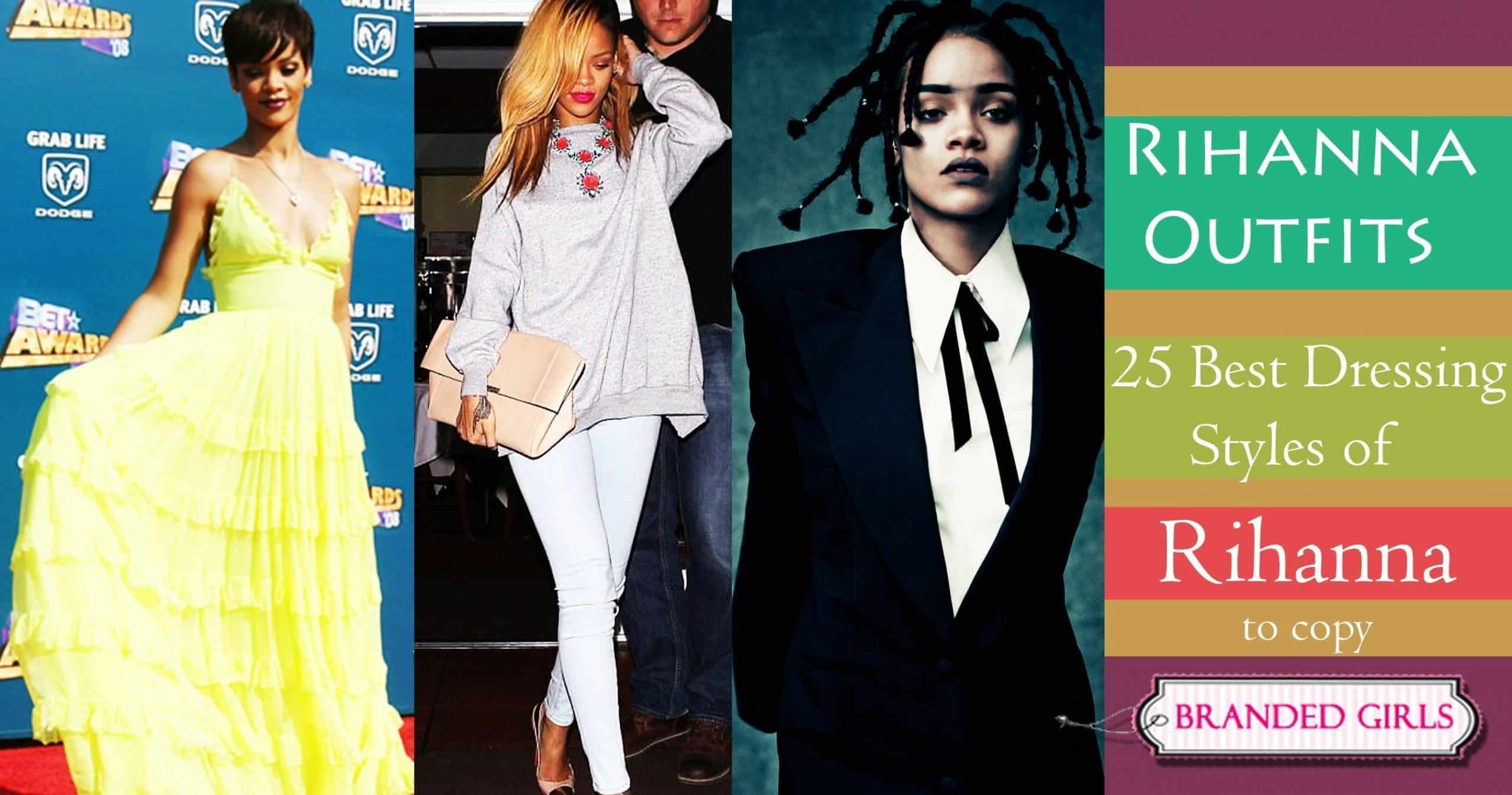 25 best dressing styles of rihanna