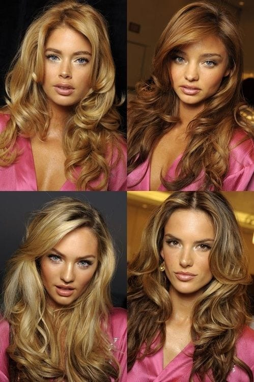 3-The-Victorias-Secrets-Glamour-Waves How to do Blowout-20 Ideas for Messy and Blowout Hairstyles