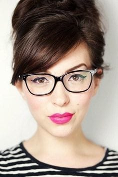 31-A-Stunning-High-Bun-with-Glasses 37 Cute Hairstyles for Women with Glasses this Year
