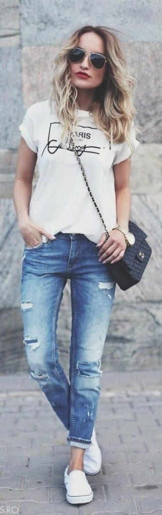 4-Make-a-Cool-Jeans-Outfit-Out-of-It-322x1024 Graphic Tee Ideas-20 Stylish Outfit Ideas with Graphic Tees