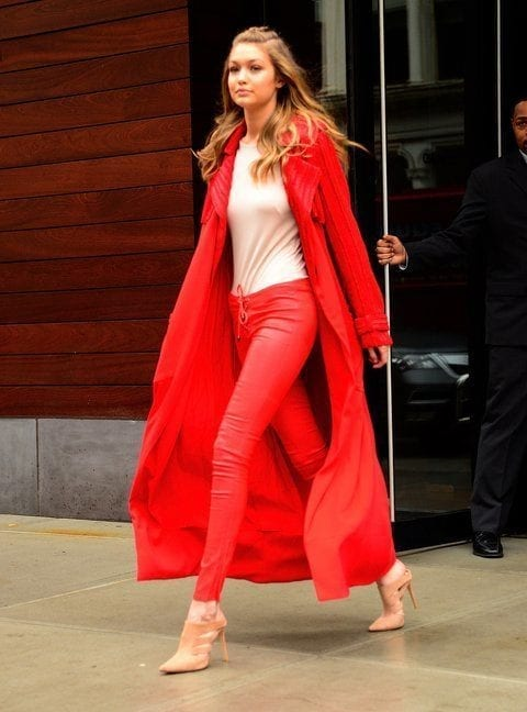 6-Her-High-Heels-Red-on-Style Gigi Hadid Outfits-28 Best Looks of Gigi Hadid This Year