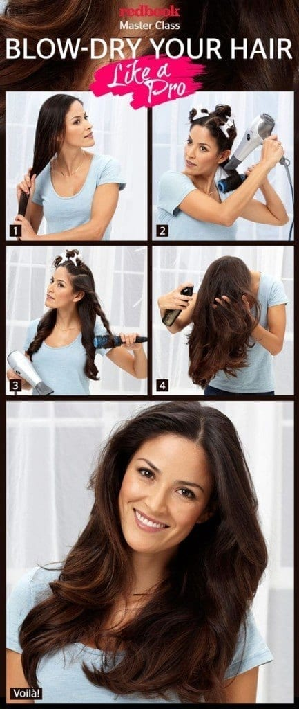 6-The-Pro-Blow-Dry-Style-433x1024 How to do Blowout-20 Ideas for Messy and Blowout Hairstyles