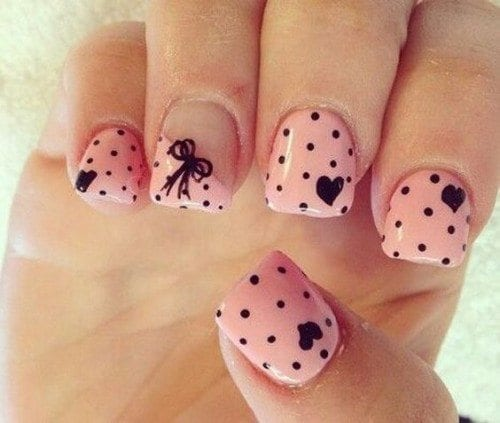 7562cf04d3056b042bc1e161a4fdbe16-500x423 Short Nail Designs - 25 Cute Nail Art Ideas for Short Nails