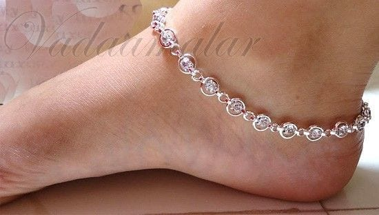 8-Gorgeous-Compilation-of-Stones Cute Ankle Bracelets-19 Ideas how to Wear Ankle Bracelets
