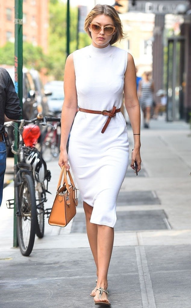 8-In-A-Catchy-White-Dress-634x1024 Gigi Hadid Outfits-28 Best Looks of Gigi Hadid This Year