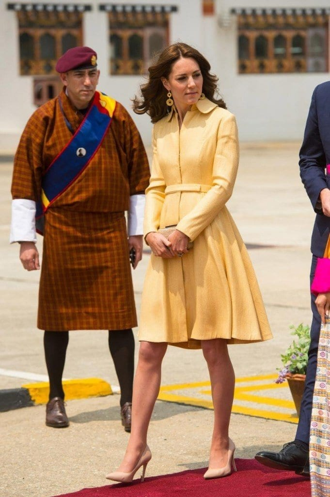 95422933_The_Duchess_of_Cambridge_arrives_at_Paro_International_Airport_Bhutan_during_day_five_of_th-xlarge-681x1024 Kate Middleton's Outfits-25 Best Dressing Styles Of Kate To Copy