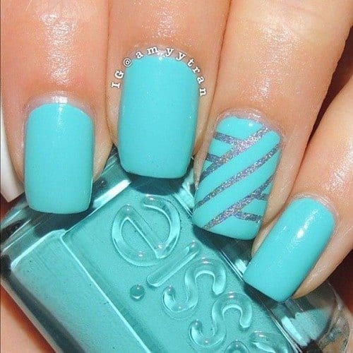 Blue-Nail-Art-Design-500x500 Short Nail Designs - 25 Cute Nail Art Ideas for Short Nails