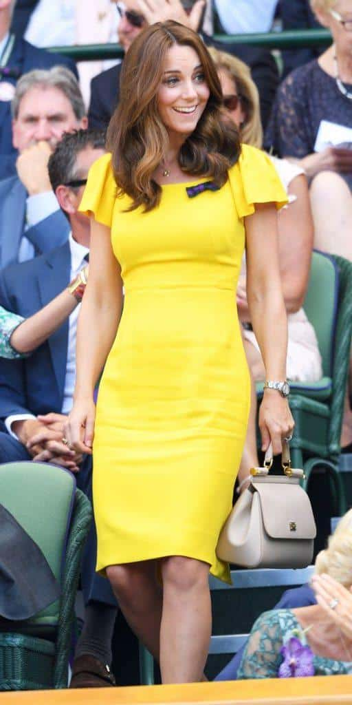 Cathrine-Duchess-Of-Cambridge-in-sunshine-yellow-512x1024 Kate Middleton's Outfits-25 Best Dressing Styles Of Kate To Copy