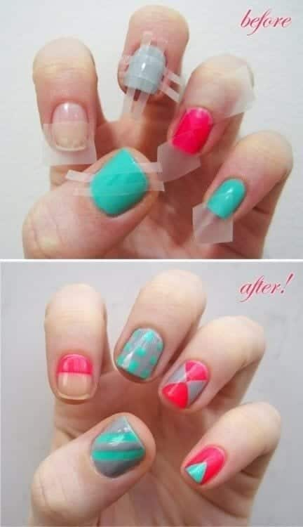Checkered-Nail-Art-Design1 Short Nail Designs - 25 Cute Nail Art Ideas for Short Nails