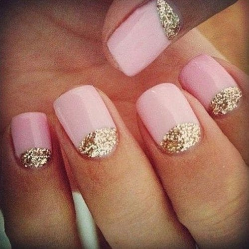 Glittery-Pink-Nail-Art-Design-500x500 Short Nail Designs - 25 Cute Nail Art Ideas for Short Nails