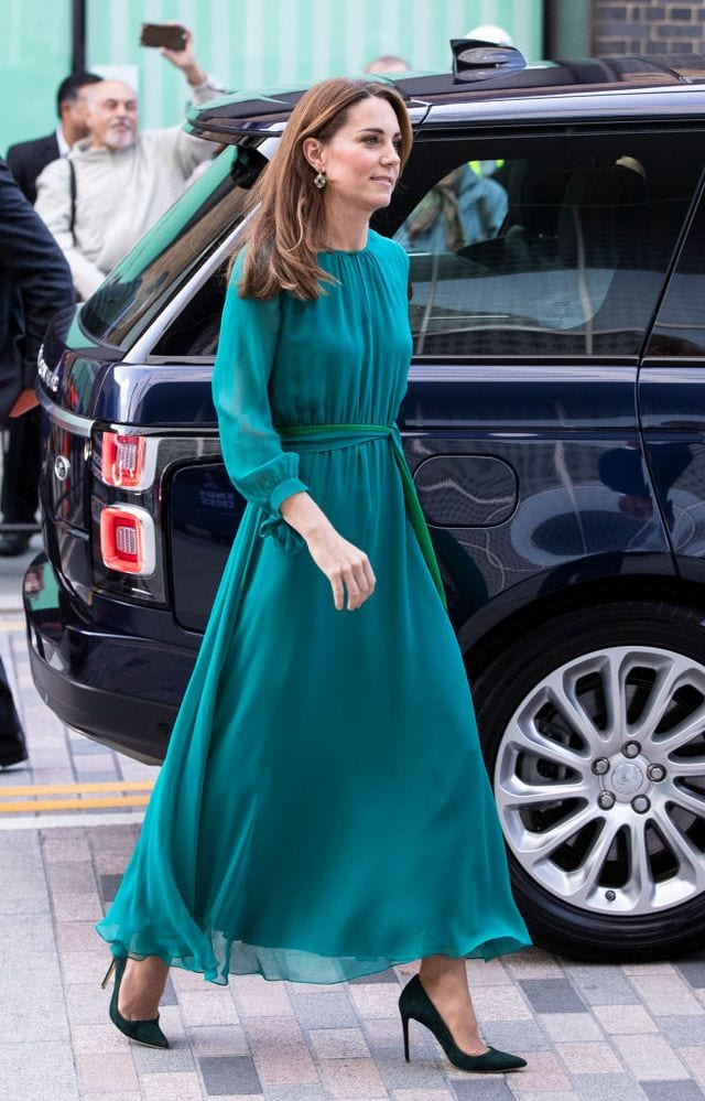 Kate-Middltons-Elegant-Maxi-Dress Kate Middleton's Outfits-25 Best Dressing Styles Of Kate To Copy