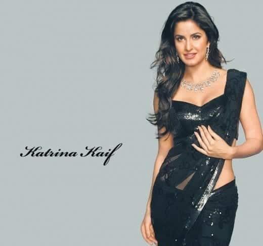 Smart-Model-Katrina-Kaif-Black-Saree-520x487 Katrina Kaif Outfits-25 Dressing Styles of Katrina Kaif to Copy