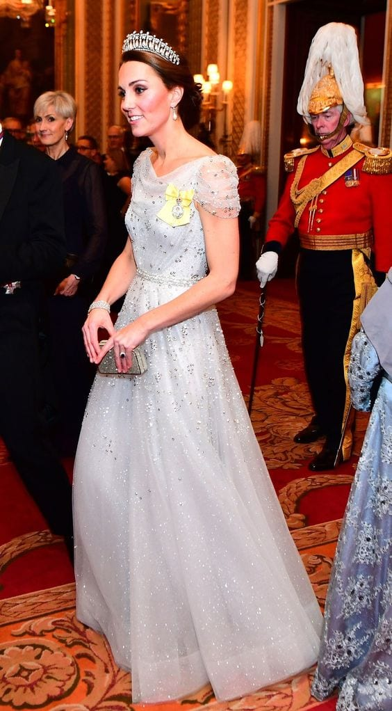 Sparkly-Evening-Gown Kate Middleton's Outfits-25 Best Dressing Styles Of Kate To Copy