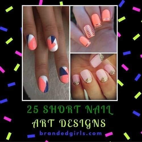 glowcrazy1-1-500x500 Short Nail Designs - 25 Cute Nail Art Ideas for Short Nails