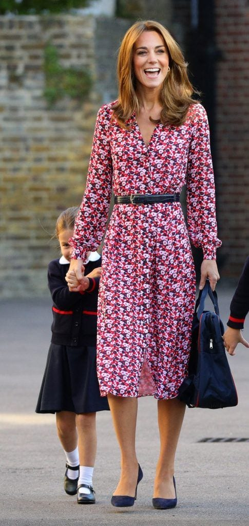 kate-middleton-floral-back-to-school-dress-485x1024 Kate Middleton's Outfits - 25 Best Dressing Styles Of Kate