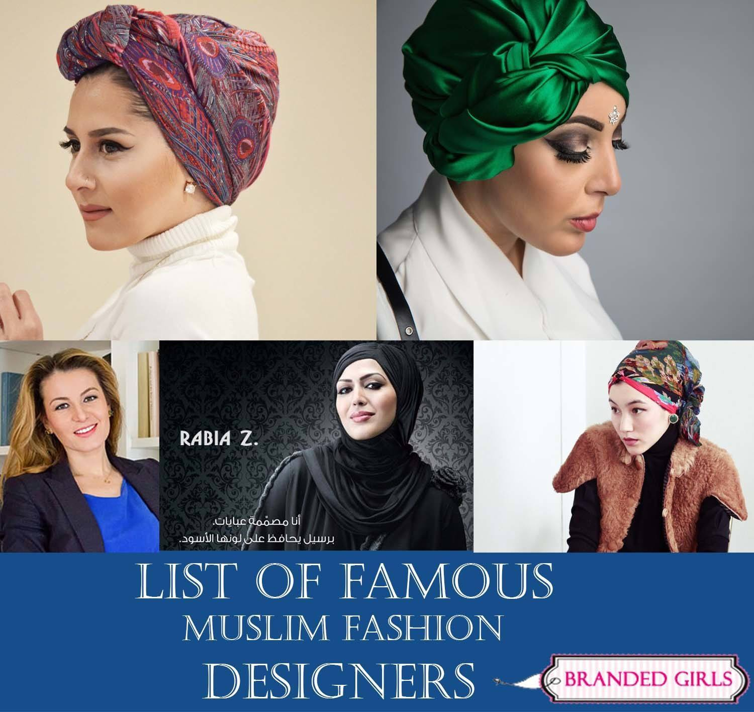 list of famous muslim fashion designers in the world