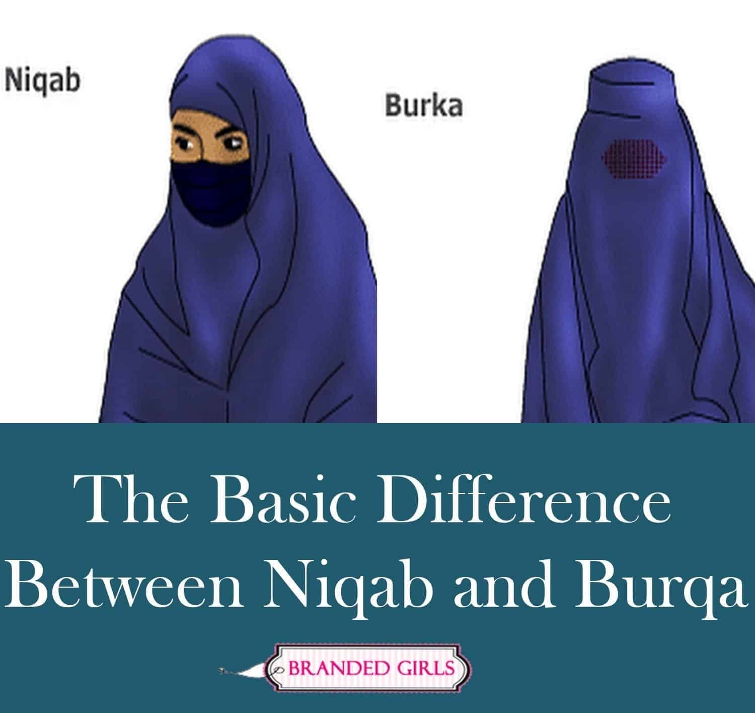the basic difference between niqab and burqa