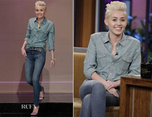 10-A-Formal-Jeans-Style Miley Cyrus Outfits-25 Best Dressing Styles of Miley Cyrus to Copy