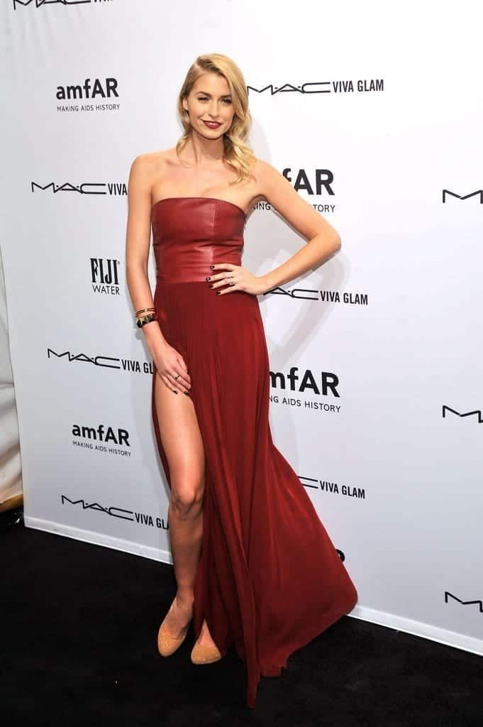 13-An-Appealing-Strapless-Dress-681x1024 Lena Gercke Outfits-25 Best Dressing Style of Lena Gercke to Copy