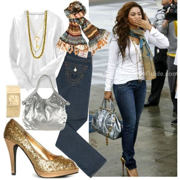 16-The-Fanciest-of-Jeans-Fashion Beyonce Outfits - 25 Best Dressing Styles of Beyoncé to Copy