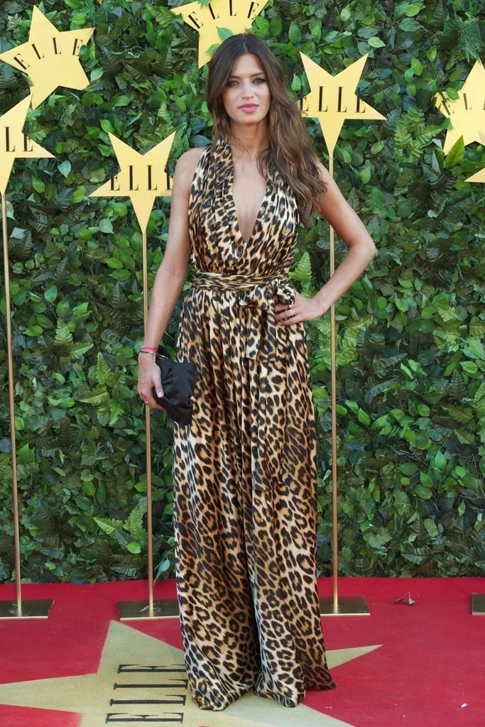 17-A-Cheetah-Printed-Gown-683x1024 Sara Carbonero Outfits-25 Best Dressing of Sara Carbonero to Copy