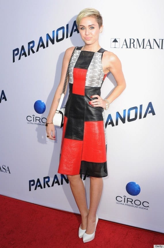 3-A-Uniquely-Textured-Outfit Miley Cyrus Outfits-25 Best Dressing Styles of Miley Cyrus to Copy