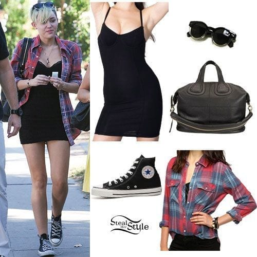 6-An-Underwire-Dress-Style Miley Cyrus Outfits-25 Best Dressing Styles of Miley Cyrus to Copy