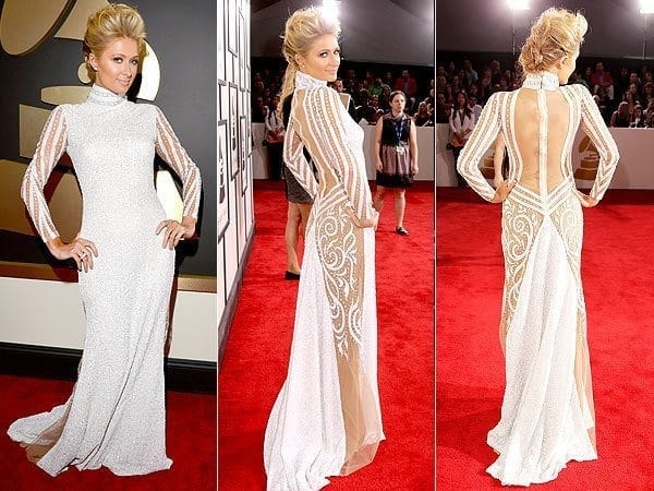 7-Some-Pearl-White-Magic Paris Hilton Outfits-25 Best Dressing Styles of Paris Hilton to Copy