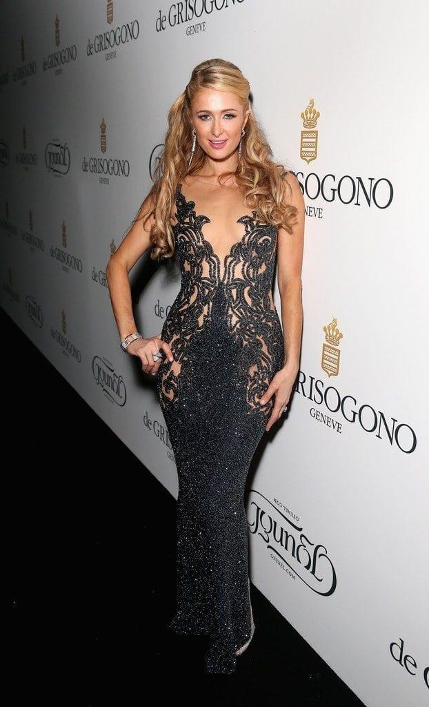 9-A-Pure-Beaded-Dress-622x1024 Paris Hilton Outfits-25 Best Dressing Styles of Paris Hilton to Copy