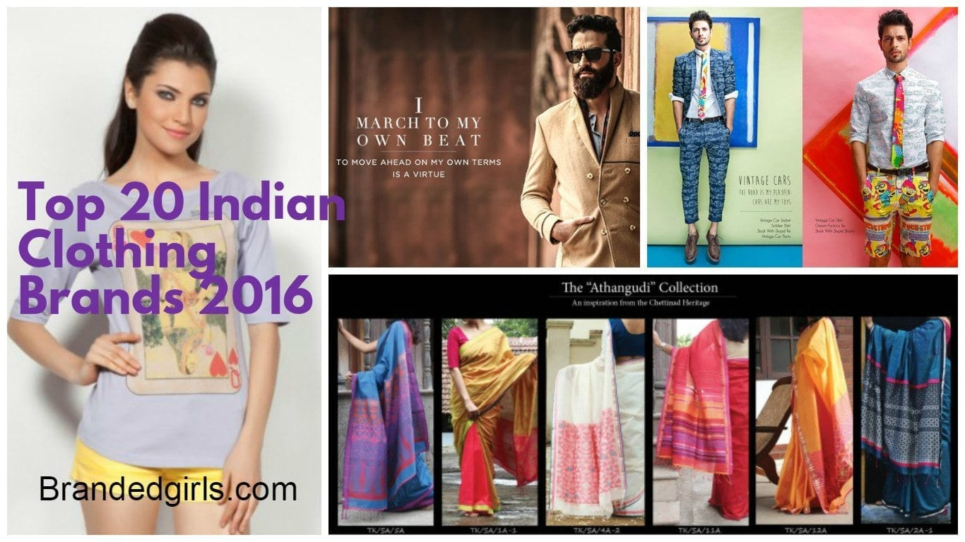 Indian Fashion Brands – Top 20 Indian Clothing Brands 2021