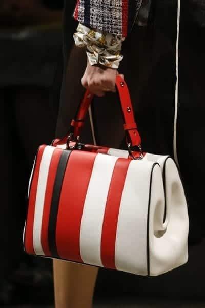 Prada-WhiteRedBlack-Striped-Top-Handle-Bag-Spring-2016 2019 Prada Handbags and Purse Collection