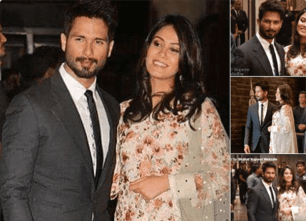 shahid-kapoor-with-his-wife Preity Zinta Marriage Pics-Wedding Dress and Guest Celebrities Outfits