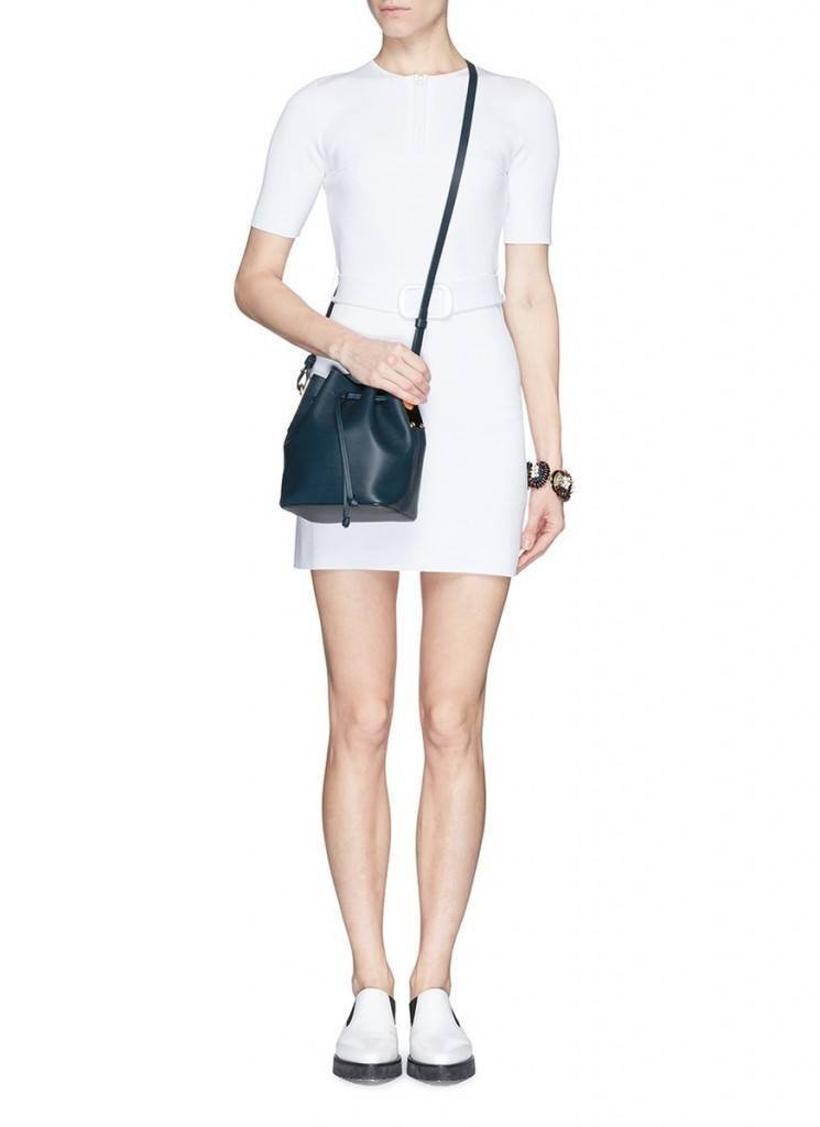 sophie-hulme-blue-small-leather-drawstring-bucket-bag-product-5-805557151-normal-745x1024 Best Outfits to go with Tiny Bags-20 Ideas on How to Wear Mini Bags