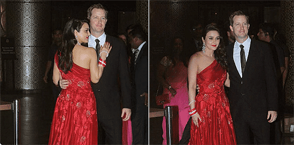 with-gene-goodenough Preity Zinta Marriage Pics-Wedding Dress and Guest Celebrities Outfits