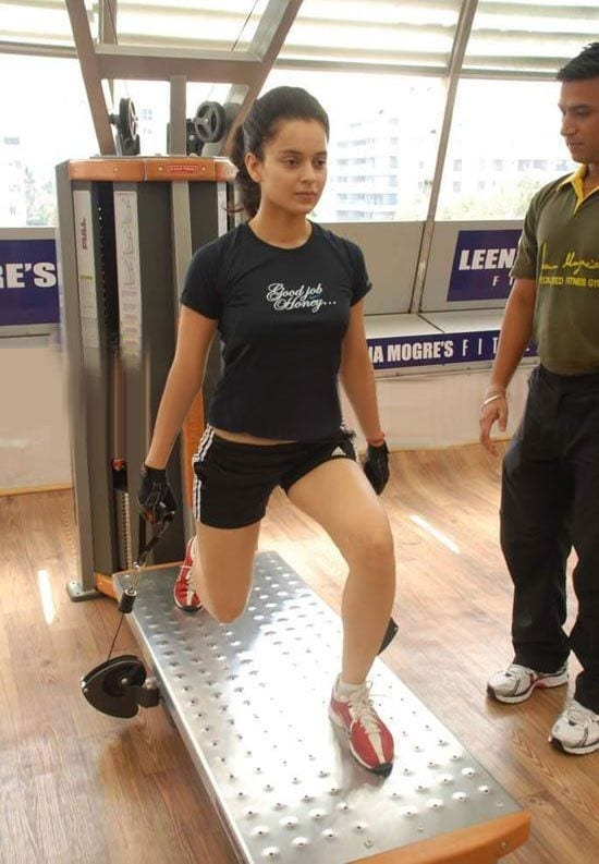 bollywood-workout-outfits-kangna-ranaut Bollywood Celebrities Workout Outfits-20 Top Actresses Gym Style