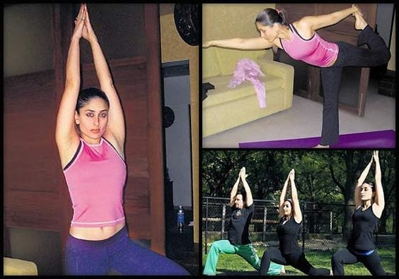 bollywood-workout-outfits-kareena-kapoor Bollywood Celebrities Workout Outfits-20 Top Actresses Gym Style