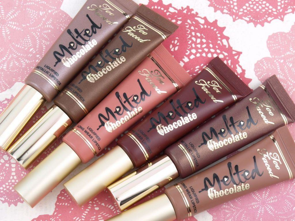 too-faced-melted-chocolate-liquified-lipstick-swatches-review-4-1024x768 Top Makeup Brands – List of 15 Most Popular Cosmetics Brands 2017